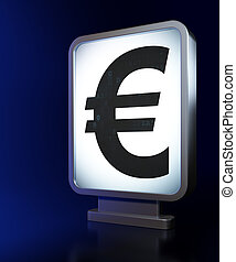 Currency concept: Euro on billboard background