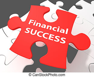 Currency concept: Financial Success on puzzle background