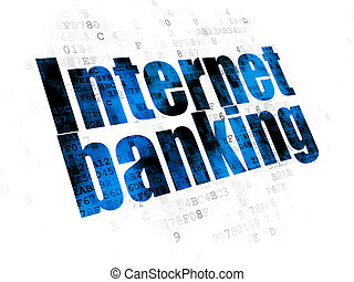Currency concept: Internet Banking on Digital background