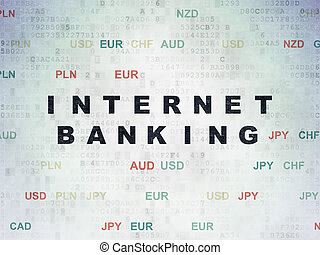 Currency concept: Internet Banking on Digital Paper background