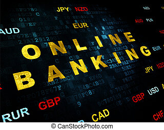 Currency concept: Online Banking on Digital background