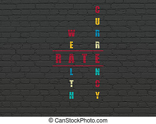 Currency concept: Rate in Crossword Puzzle