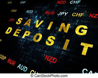 Currency concept: Saving Deposit on Digital background