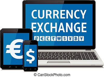 Currency exchange concept