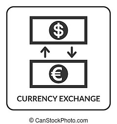 Abstract currency symbols glowing showing foreign exchange