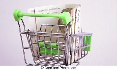 Currency exchange in the basket - In a metal basket exchange...