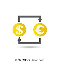 Currency exchange outline icon