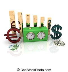 Currency Exchange Rates - constant rivalry between two...