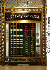 Currency exchange kiosk in main concourse of Grand Central