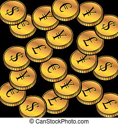 currency golden coins