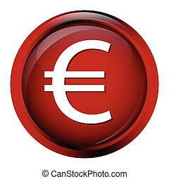 Currency icon euro symbol vector illustration