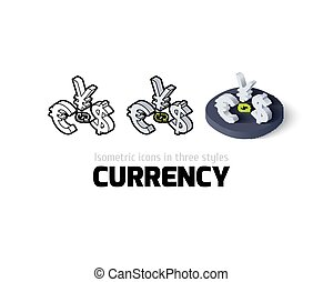Currency icon in different style