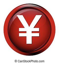 Currency icon yen symbol vector illustration