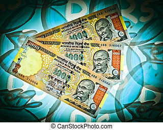 Currency - Indian currency, 1000 (Thousand) Rupees, India