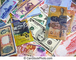Currency Notes Background - Multi Currency notes Background