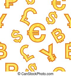 Currency pattern, cartoon style