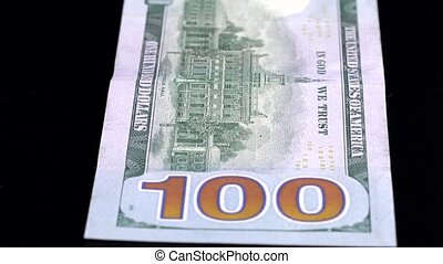 Currency Scan Low Depth of Field USD 100 back.