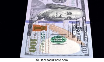 Currency Scan Low Depth of Field USD 100 front.