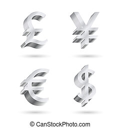 currency silver symbols