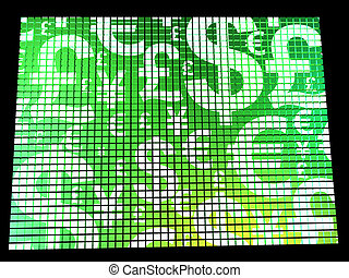Currency Symbols On Compter Screen Shows Exchange Rates And Finance