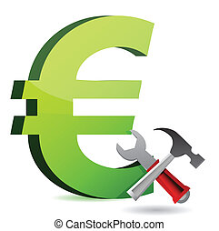 currency tools symbol illustration