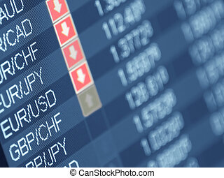 currency trading ,closeup and shallow DOF,for forex, stock...