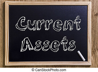 Current Assets - New chalkboard with 3D outlined text