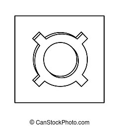 current currency symbol icon image, vector illustration...