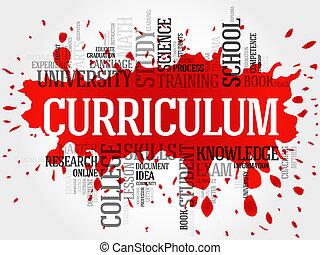 curriculum, parola, nuvola