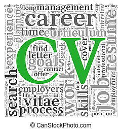 Curriculum vitae concept in word tag cloud - CV Curriculum...