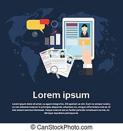 Curriculum Vitae Recruitment Candidate Job Position Business Web Banner