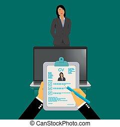 Curriculum vitae recruitment