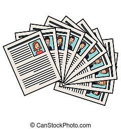 curriculum vitae set documents