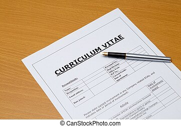 curriculum vitae - This is an image of form.