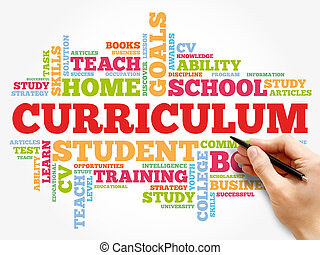 CURRICULUM word cloud collage, education concept background