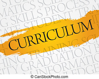 CURRICULUM word cloud, education business concept
