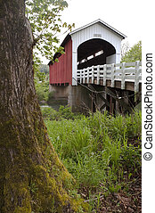 Currin Covered Bridge Row River Valley Vintage Road - Tress ...