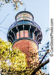 Currituck Beach Lighthouse on the Outer Banks of North Carolina