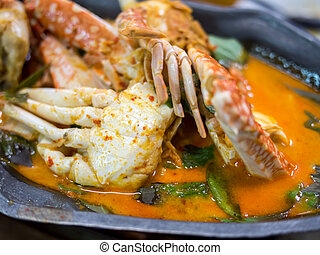 curry crab with coconut milk