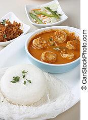 curry, garnele, goan