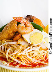 Curry Laksa which is a popular traditional spicy noodle soup...