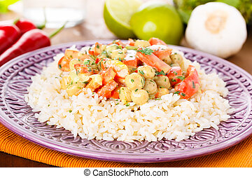 curry, pois chiches