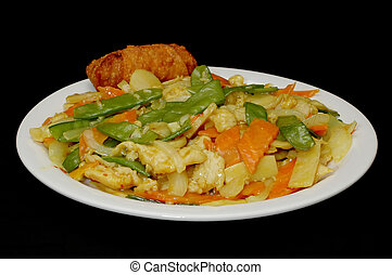 curry, poulet