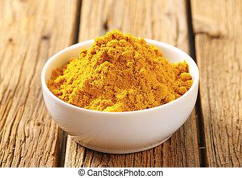 Curry powder - Heap of curry powder in a bowl
