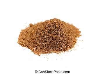 Curry powder isolated on the white background