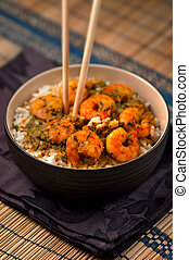 Curry Prawns with Rice 05
