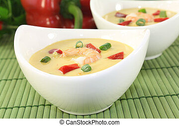 Curry Soup with shrimp