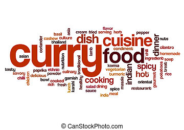 Curry word cloud