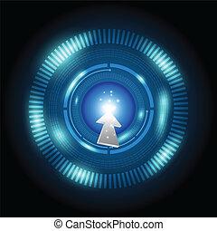 curseur, bouton, pointage, puissance, numérique