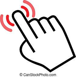 curseur, main, icône